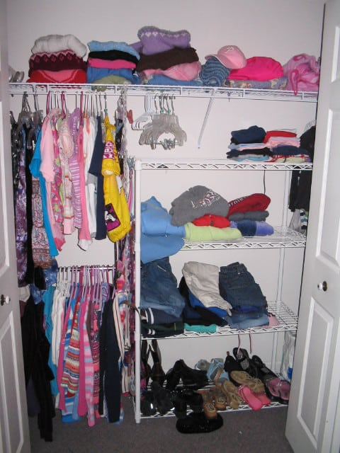 Organizing A Teen 39 S Closet Before And After Heartwork