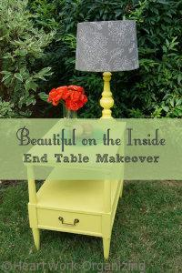 Chalk Paint by Annie Sloan End Table Makeover)