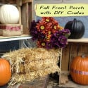 Fall Front Porch with DIY Crates for Free