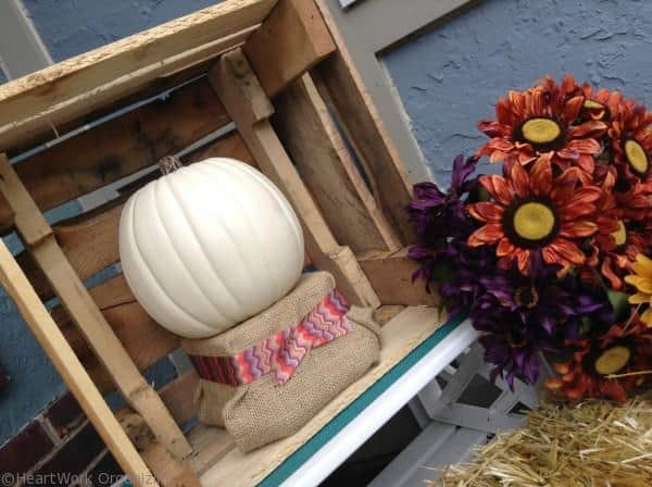 Pumkins in DIY crates