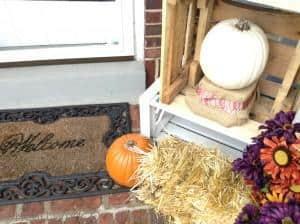 front porch fall decor