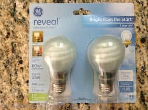 GE Reveal CFL bulbs