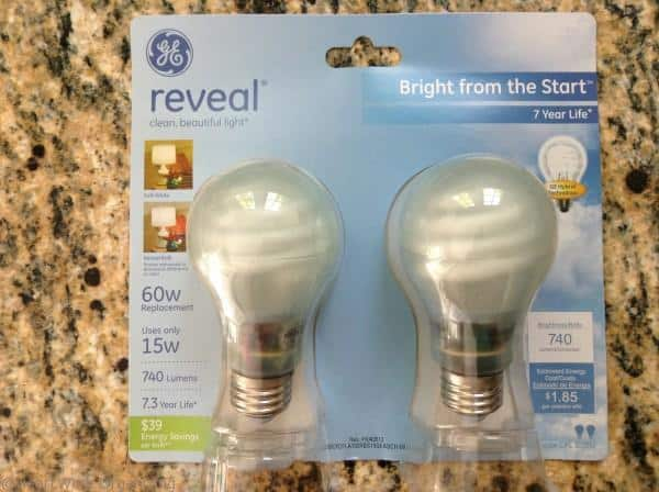 GE Reveal CFL bulbs
