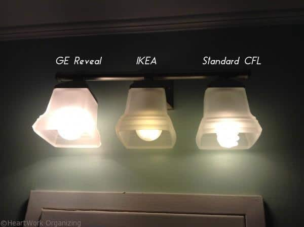 comparing CFL light bulbs