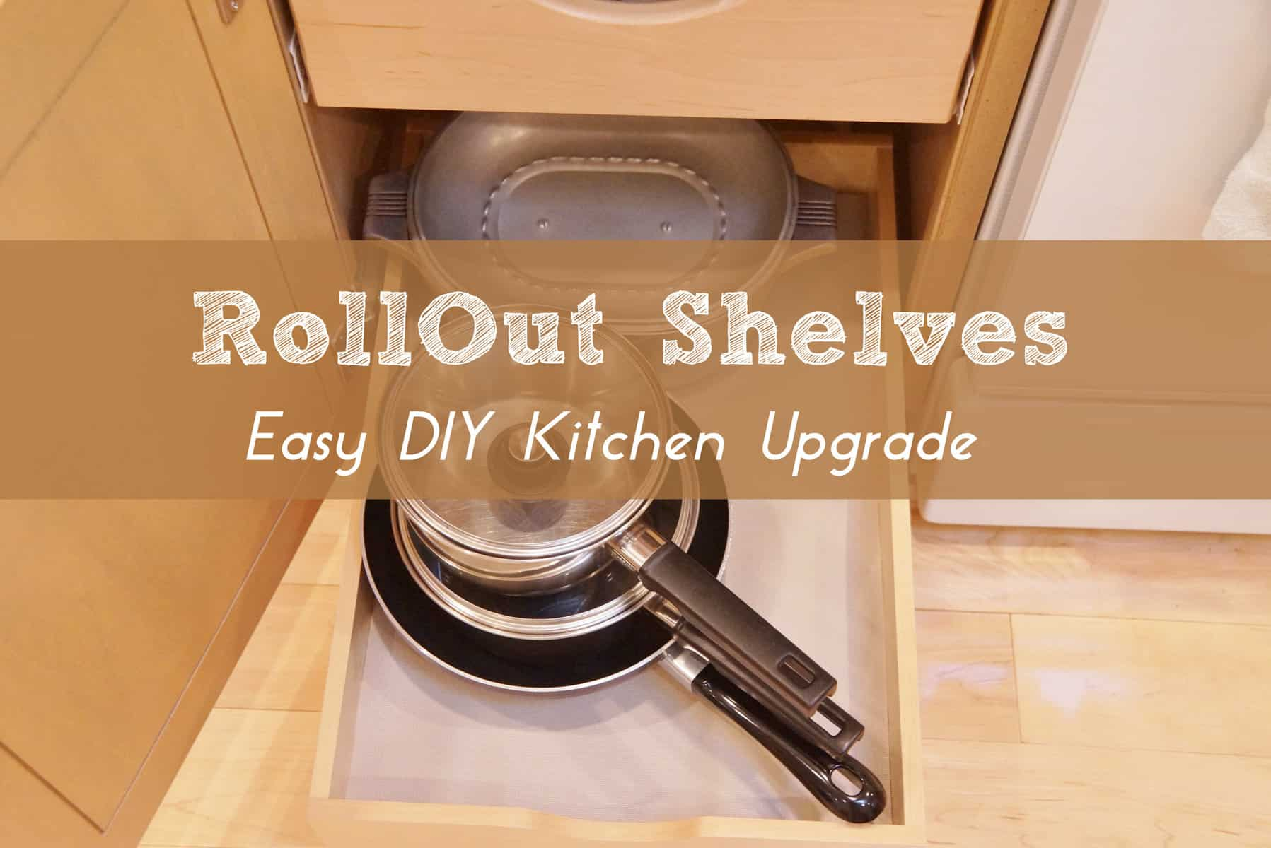 Installing Pull Out Shelves in Kitchen Cabinets