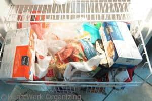 disorganizing freezer