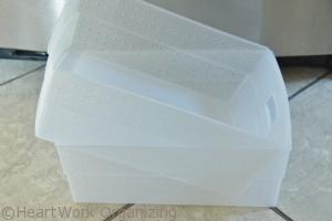 plastic freezer organizing bins