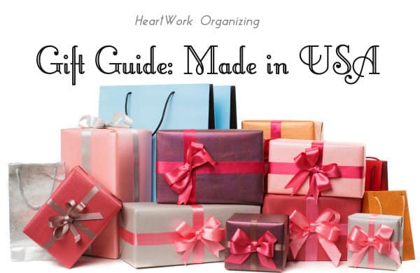 Gift Guide featuring Gifts that aren't clutter and gifts made in USA