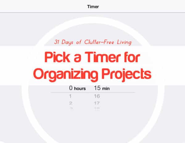Using a timer for Organizing Projects
