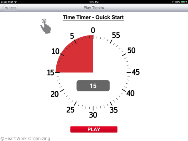 time timer for organizing