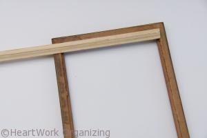 finishing the back of your DIY Jewelry frame