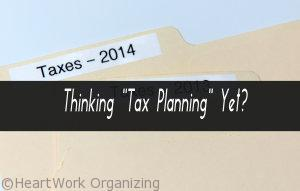 end of year organizing for taxes