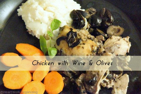 chicken with wine and olives recipe