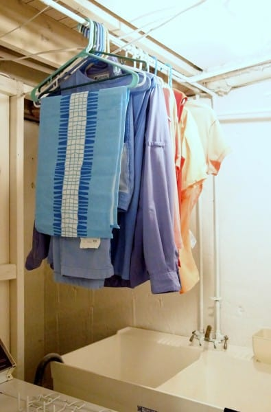 organize laundry with safe air dry space