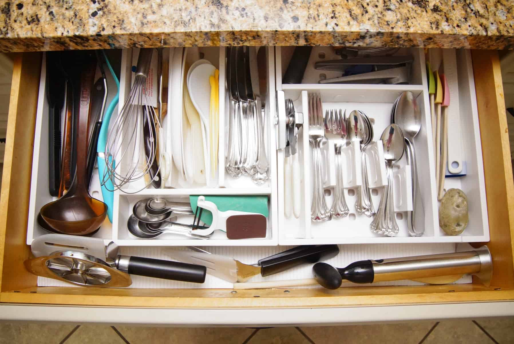 Great Organize Kitchen Drawers With Oxo Adjustable Trays