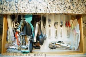 How to organize kitchen drawers-before