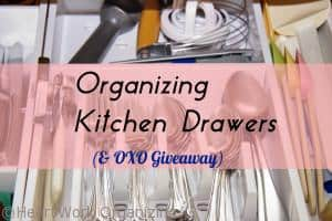 Organize kitchen drawer and clutter