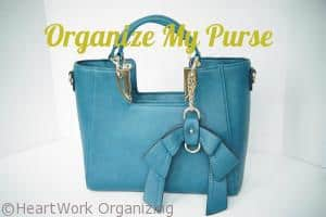 how to organize a purse