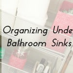 Organizing Under Bathroom Sinks