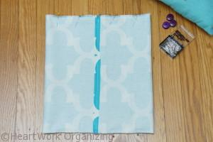 sewing an envelope pillow slipcover