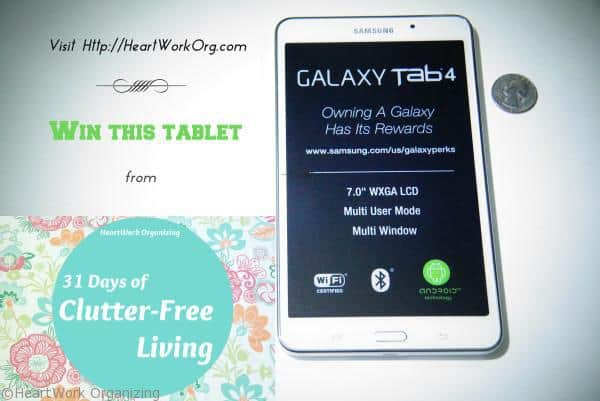 Win Samsung Galaxy Tab from HeartWork Organizing
