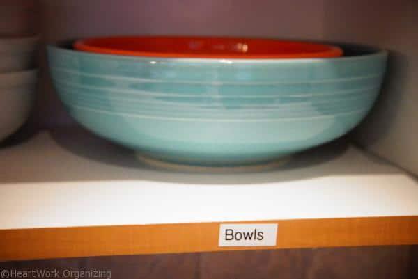 label kitchen shelves for better organization