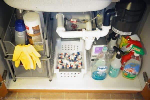 organize under kitchen sink- maintenance
