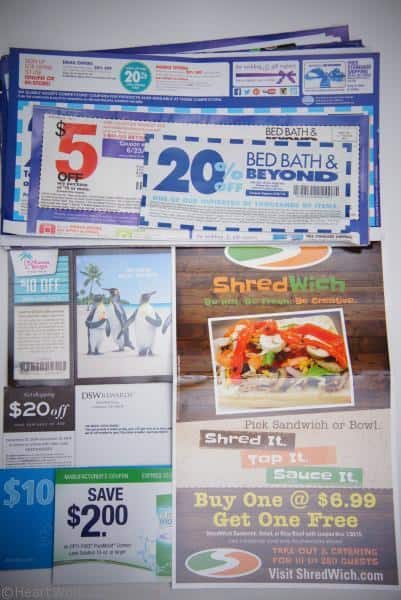 how to organize coupons and elminate paper clutter