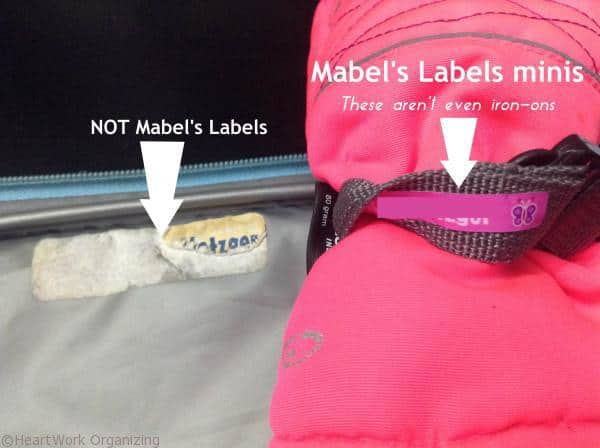 organize kids stuff with Mabel's Labels