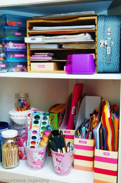 Organize a craft cabinet