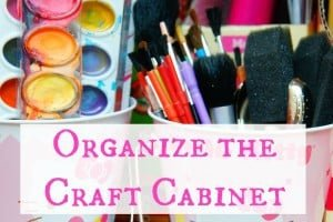 how to organize the craft cabinet