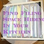 Find Filing Space Hiding In Your Kitchen