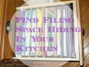 convert a kitchen drawer into a filing drawer