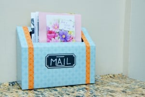 organizing mail with a DIY mail station