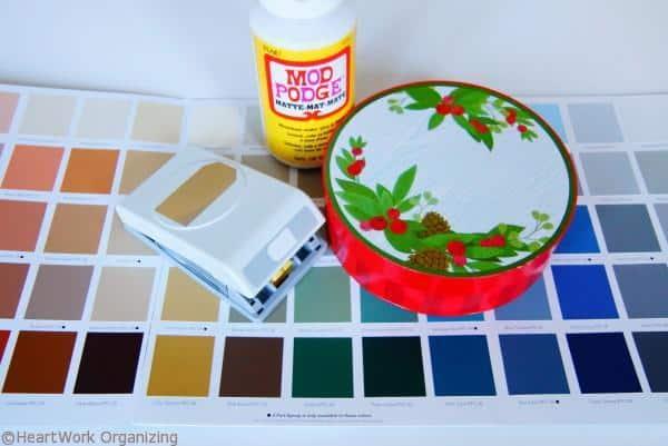 Paint Chip DIY Jewel Box Craft supplies