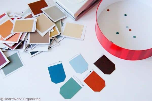 shapes for Paint Chip DIY Jewel Box Craft