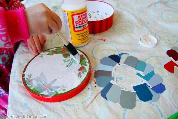 Paint Chip DIY Jewel Box Craft with Mod Podge