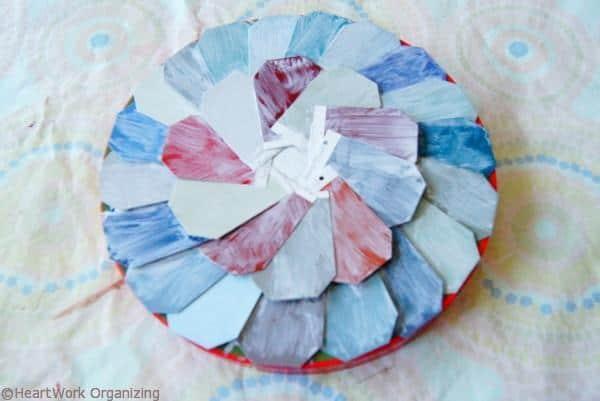 drying the Paint Chip DIY Jewel Box Craft
