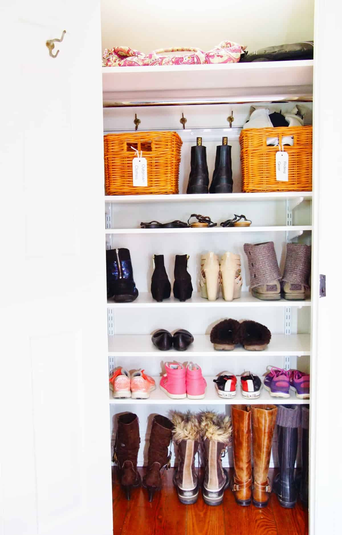 closet reachinclosets cabinetry shoe furniture for reach in and techline closets