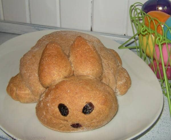 Honey Wheat Bunny Bread for Easter