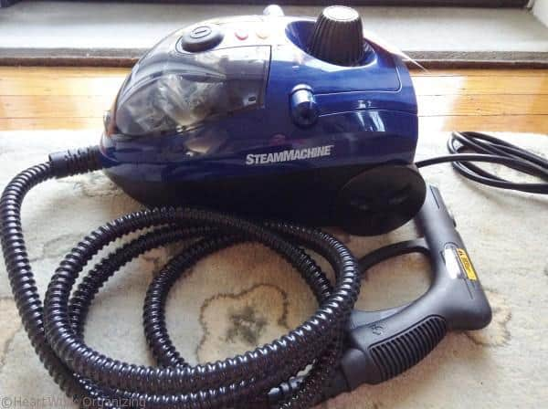 spring cleaning with Homeright steam machine