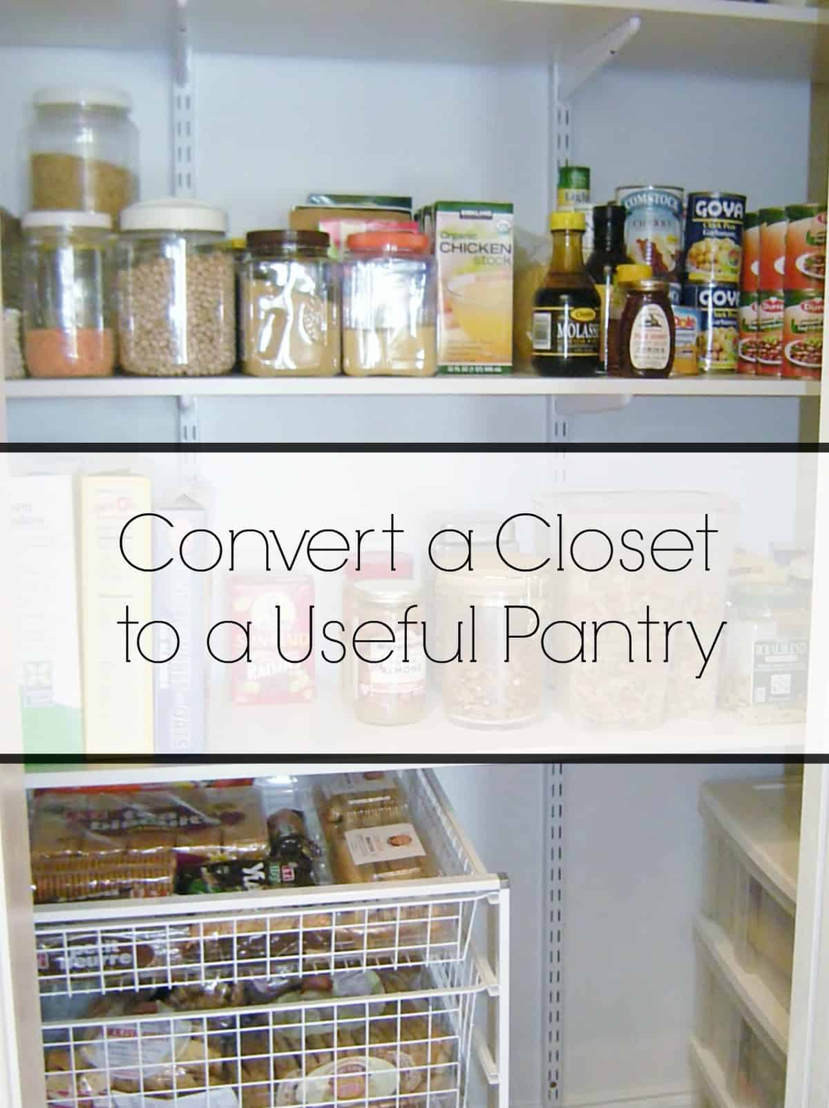 Convert a Closet to a Pantry | HeartWork Organizing, Tips for ...
