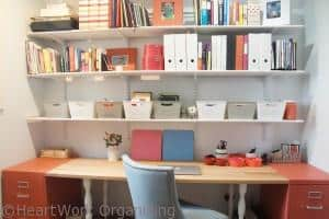 home office makeover with tons of storage