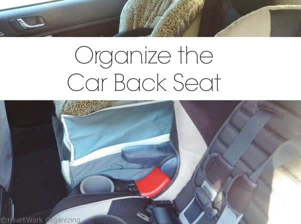 organize the car back seat