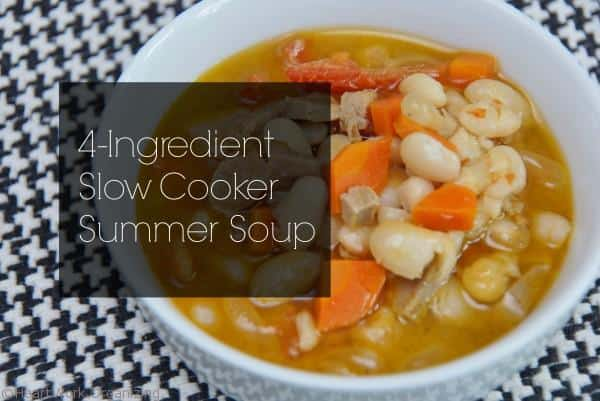 4-ingredient slow cooker summer soup