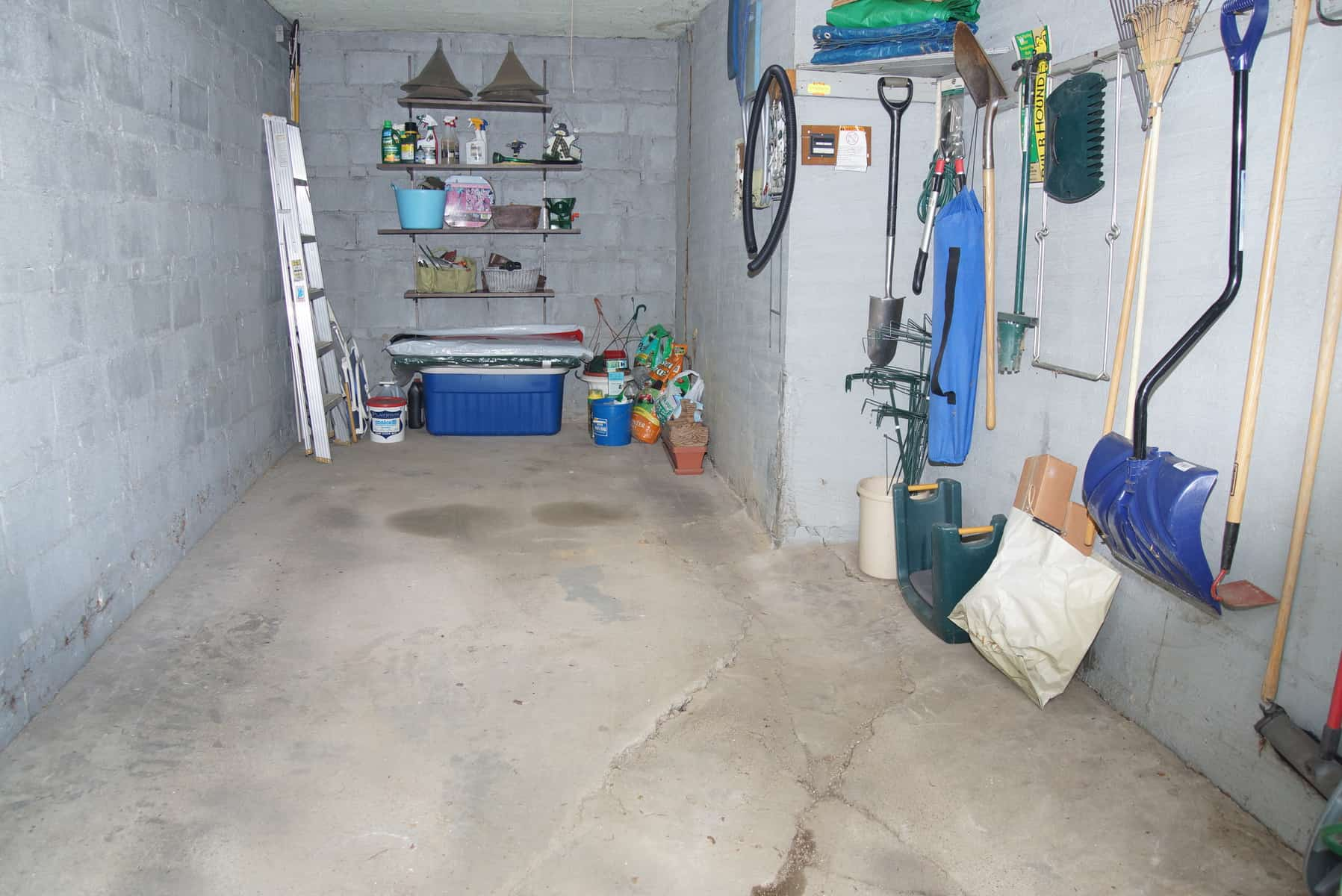 Garage Organized For A Single Car