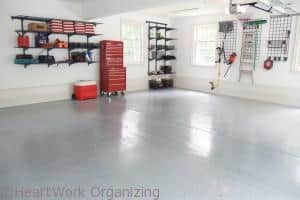 organize the garage for fall