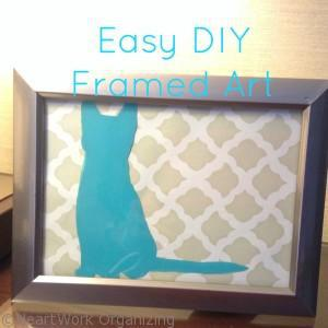 Easy DIY Framed Art title