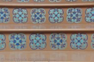 Tusscan Tile design on stairs by Royal Design Studio