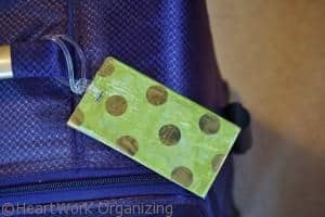Luggage Tag makeover finished
